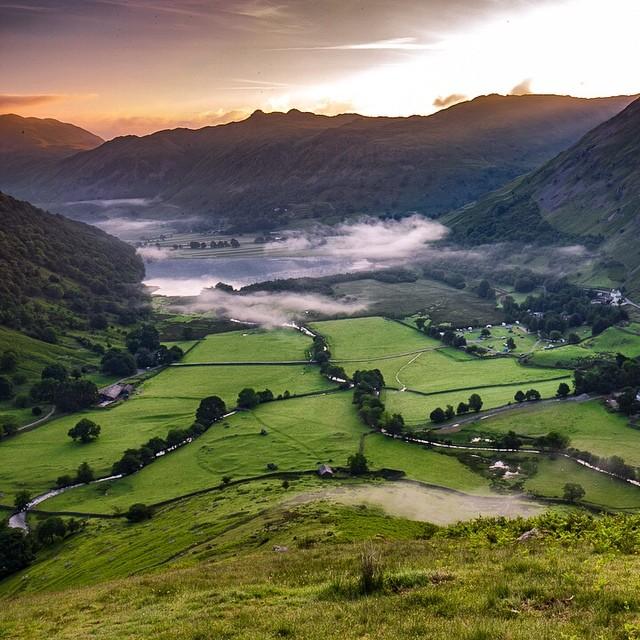 Sunrise Lake District England Love getting up early Happy Sundayhellip
